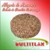 Alegría Amaranto Redonda de Chocolate Semi-amargo ::  Diámetro  8 cm. Alto  1.8 cm.