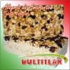 Alegría de Amaranto de Tabique Especial  Peso 160 gr. Largo 15 cm, Ancho 7.5 cm, Alto 3.5 cm. Ingredientes: Amaranto, Miel, Cacahuate, Pepita de Calabaza y Pasa.