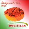 Dominguera de Coco Naranja  Peso 80 gr. Diámetro 7 cm, Alto 1.5 cm. Ingredientes: Coco, Azúcar, Glucosa, Saborizante y Colorante Artificial.